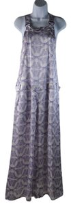 Thomas Wylde Silk Butterfly Print Wide Leg Dress