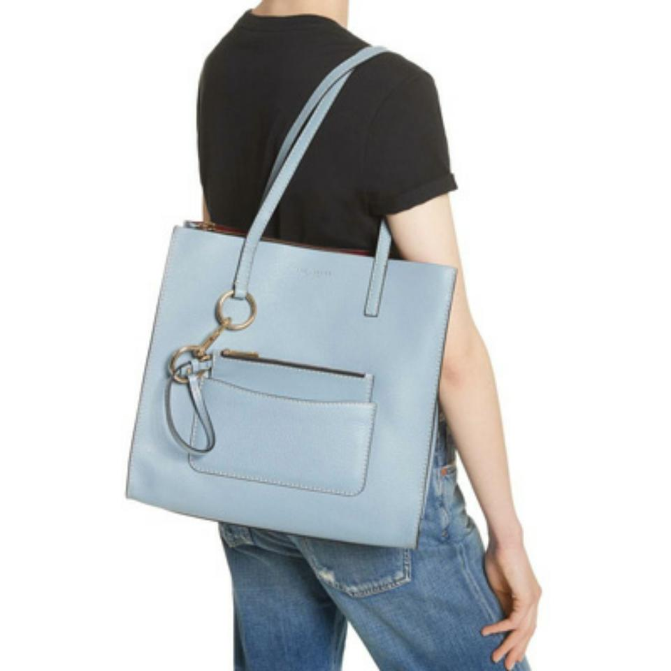 c36b06ef7567 Marc Jacobs New Bold Grind Shopper Light Blue Leather Tote - Tradesy