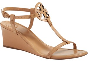 Tory Burch Nude Wedge Leather Dusty Cypress Sandals
