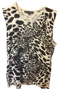 Pierri New York Animal Print Animal Knit Top tan