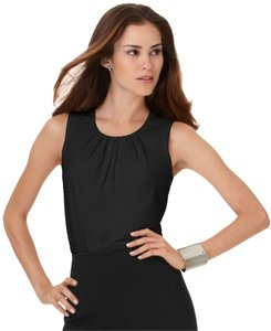 Calvin Klein Shell Pleats Pleated Top black