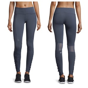 ALO Yoga Runway Ruched Paneled Performance Pants, Ombre Blue/Glossy
