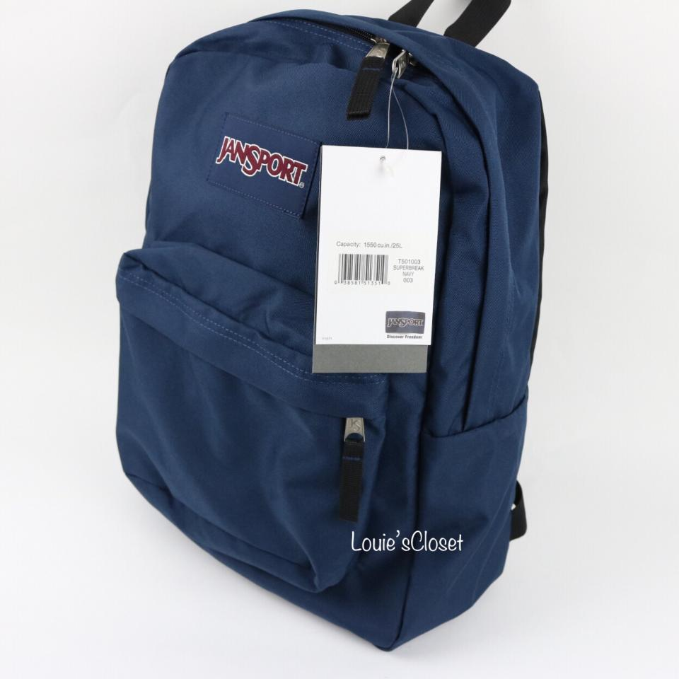 92e35c05492d Navy Blue Jansport Backpack With Flowers