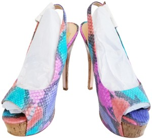 Dolce Vita Embossed Snake Stiletto With Box Multi Color Platforms