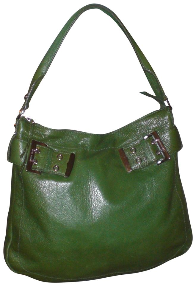 5a32b58cdb Charles David Charles-david-pebble-leather-green-silver-hobo Charles ...