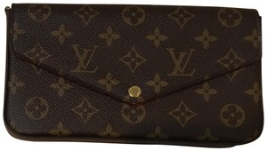 Louis Vuitton Felicie Pochette Gold Hardware Monogram Canvas Clutch