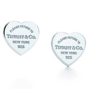 Tiffany & Co. Rare and retired medium heart tag earrings