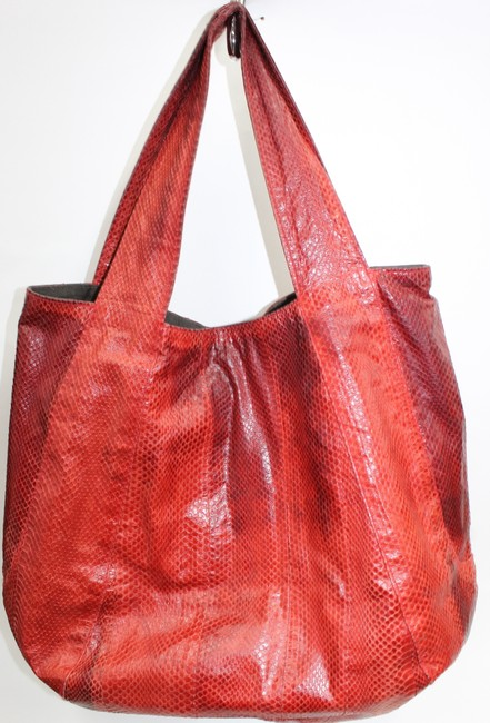 Item - Water Rust Orange Snakeskin Satchel