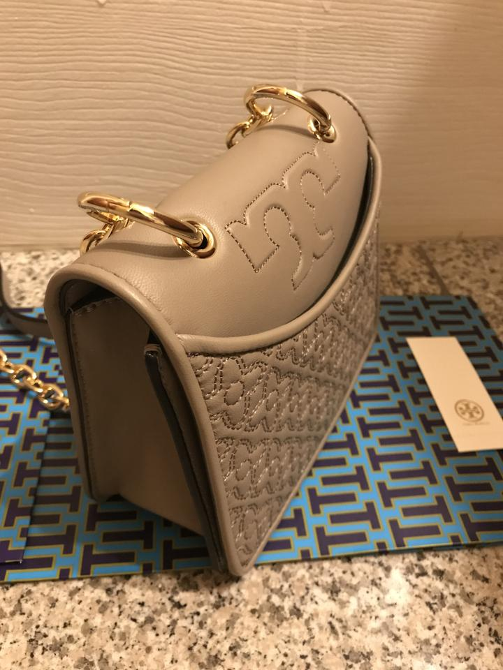 6d35561c15 Tory Burch Bryant Sale Mini French Gray Leather Shoulder Bag - Tradesy