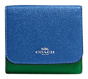 af96deb32a450 Coach COACH F57825 SMALL WALLET IN GEOMETRIC COLORBLOCK CROSSGRAIN LEATHER