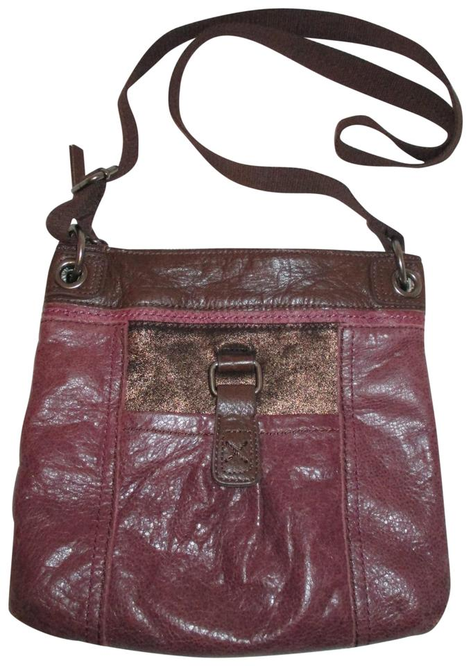 45047a556ed3 The Sak Plum & Brown Leather Cross Body Bag - Tradesy