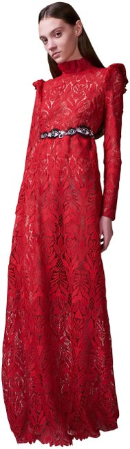 Item - Red Paris Planets and Eyes Evening Gown Long Night Out Dress Size 8 (M)