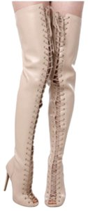 a6dc40038c ZIGIny Thigh High Over The Knee Over The Knee Thigh High Piarry Nude Boots
