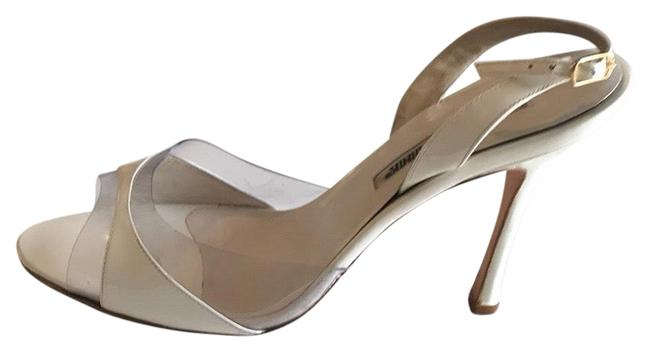 Item - White Patent Leather Peep Toes Sandals Size US 10 Regular (M, B)