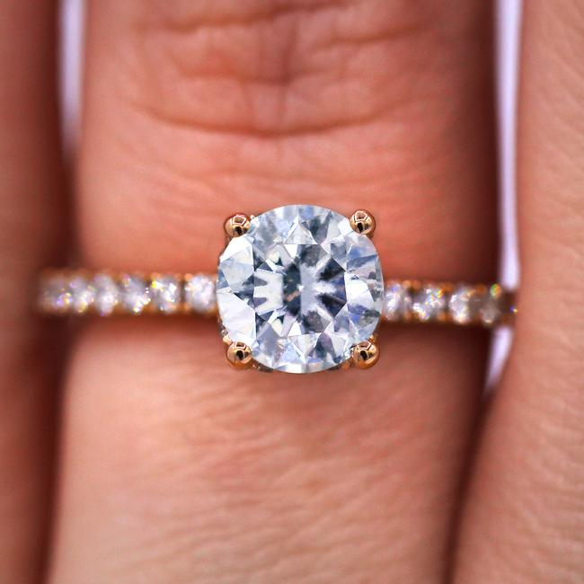 Diana M Charming with 1.61 Tcw On Pink Gold Engagement Ring Diana M Charming with 1.61 Tcw On Pink Gold Engagement Ring Image 1