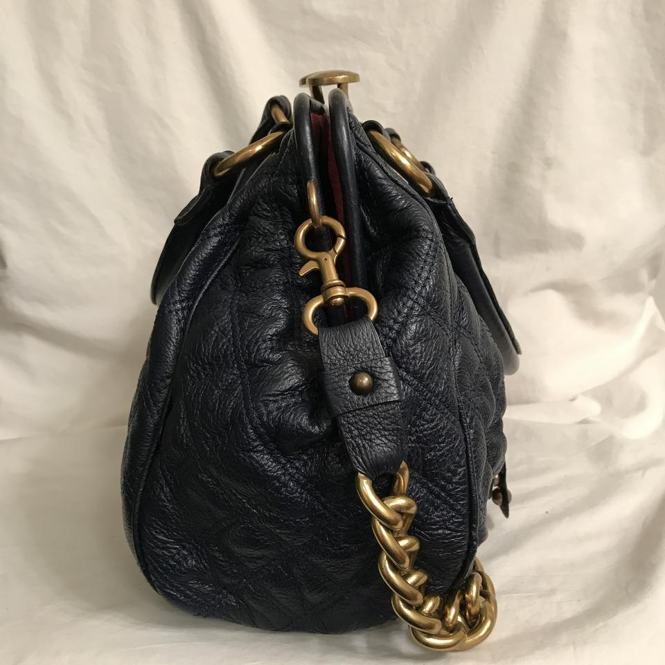 27b72f04bc2d Marc Jacobs Purse Handbag Shoulder Quilted Tote Satchel in Blue Gold Image  11. 123456789101112
