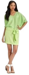 Diane von Furstenberg short dress Leaf Green Dvf Silk Edna Blouson Two Tone on Tradesy