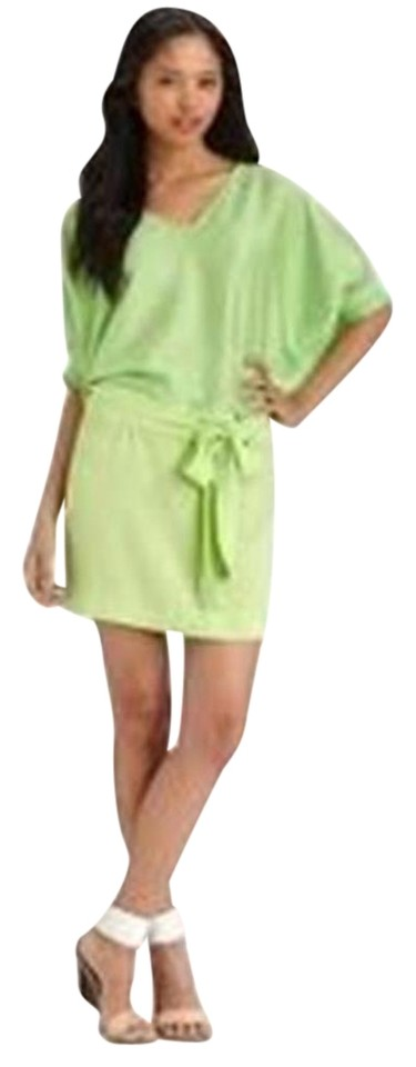 Diane Spring Dvf Tone Furstenberg Leaf Edna Green von Dress Silk Two Acid Blouson Belt with Casual I0rx7qIw