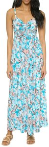 Poolside Maxi Dress by Rebecca Taylor Silk Sweetheart Crepe Floral Maxi