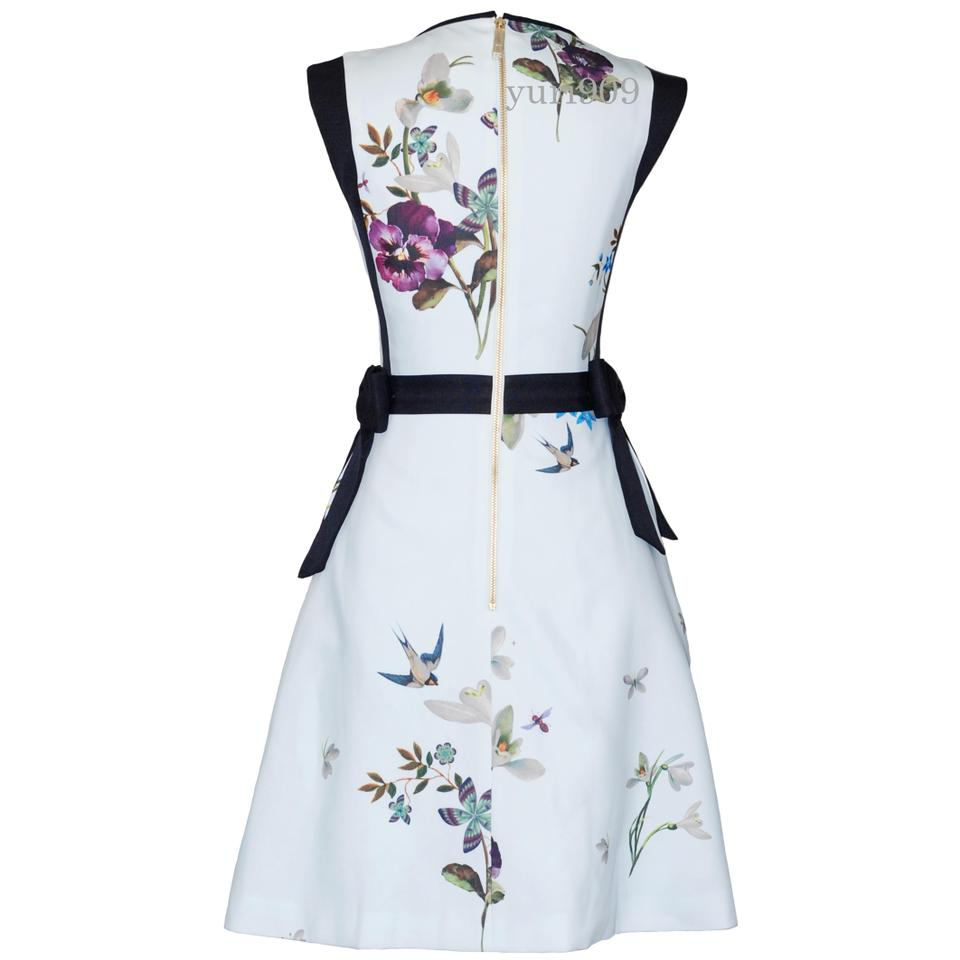 291ca15706cc Ted Baker Light Green Sipnela Spring Meadow Bow Short Cocktail Dress ...