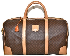 Céline Luggage Carry On Duffel Keepall Boston Brown Travel Bag