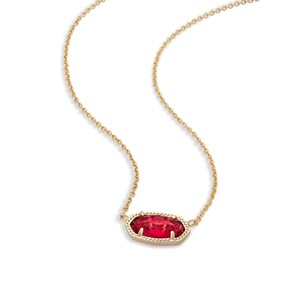 Kendra Scott Brand New Kendra Scott Elisa Necklace in Berry Red