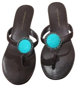 Montego Bay Club brown jeweled Sandals