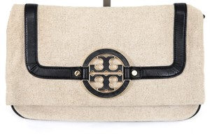 Tory Burch Beige, Black, Gold Clutch