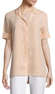 Lafayette 148 New York Linen A-line Relaxed Top