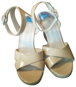 Michael Kors Collection Gold Hardware Nude Sandals