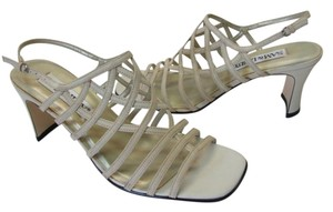 Sam & Libby & Size 7.50 Medium Good Condition BEIGE Sandals