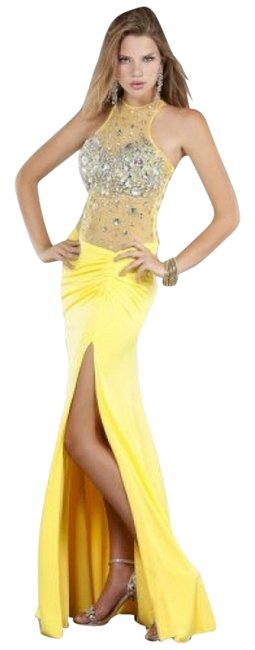Item - Yellow Pageant 668 Long Formal Dress Size 2 (XS)