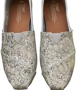 TOMS silver Flats
