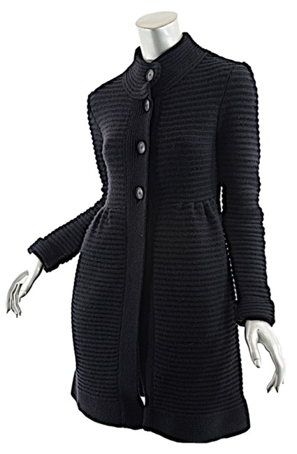 Preload https://item2.tradesy.com/images/theory-black-woolcashmere-blend-ribbed-sweater-great-mm-cardigan-size-8-m-2302481-0-0.jpg?width=400&height=650
