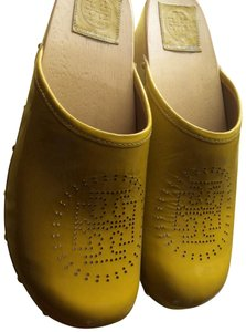 Tory Burch Yellow Mules