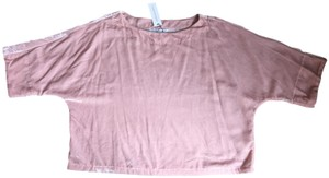 cupcakes and cashmere Velvet Top Misty rose