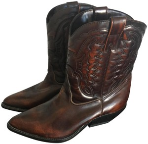 Zodiac Leather Maroon Boots