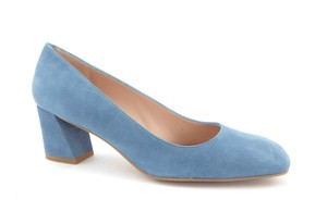 Stuart Weitzman Baby Sw Block Heel Marymid Mary Mid Jean Blue Pumps