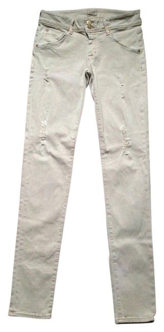 Item - Bombay Beige Distressed Collin In Skinny Jeans Size 27 (4, S)