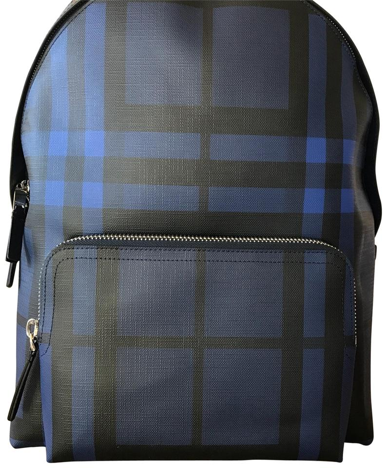 7f464f4d8be7 Burberry London Check Blue Leather Backpack - Tradesy