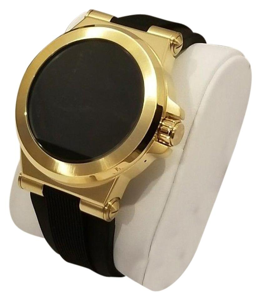 719bbccbc03b Michael Kors Michael Kors Access Touch Screen Black and Gold Tone Smartwatch  NEW Image 0 ...