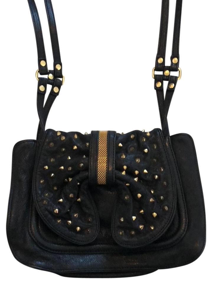8db0fe4f7cd4 3.1 Phillip Lim Edie Bow Studded Black Gold Leather Cross Body Bag ...