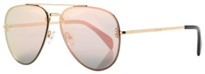 Céline NEW Celine CL 41392S 41392/S Small Pilot Mirrored Aviator Sunglasses