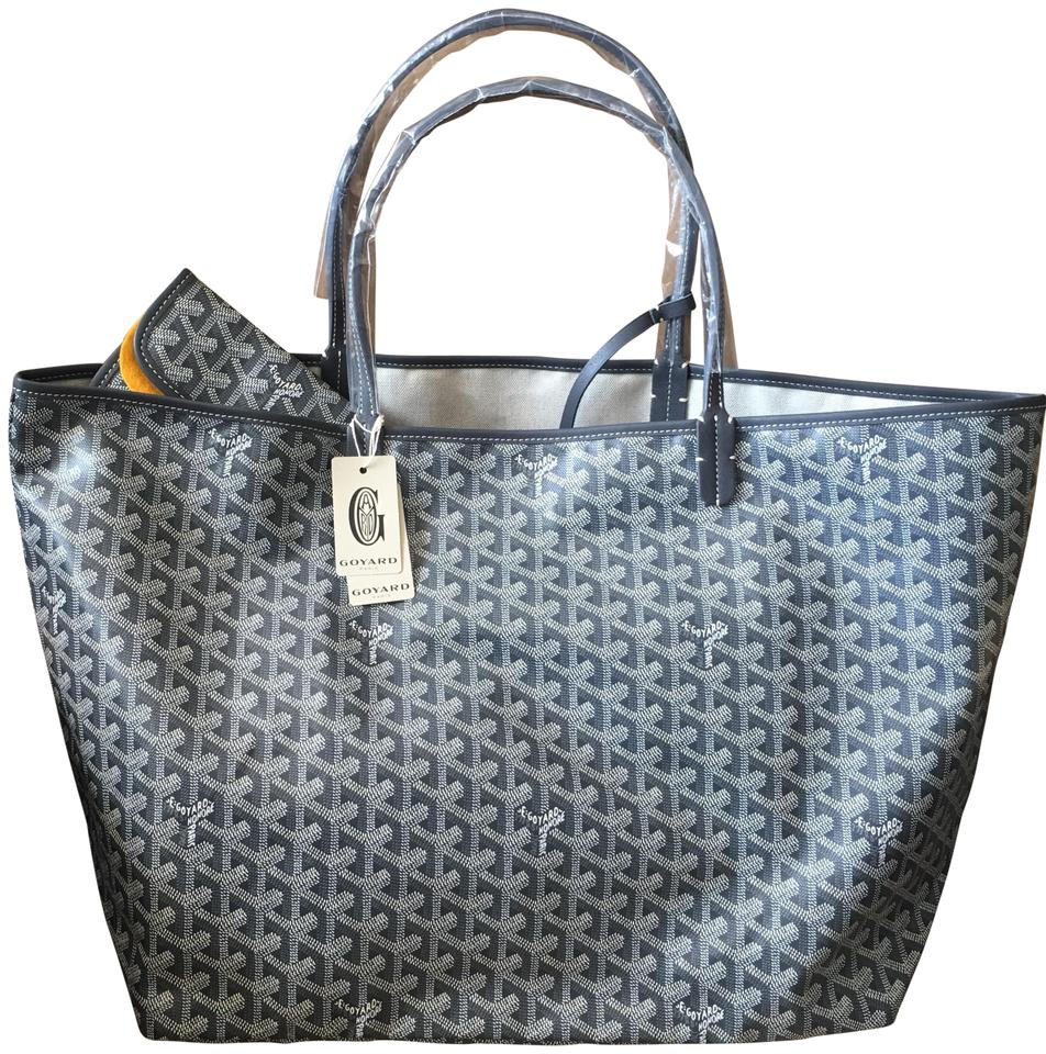 ff186c8fa6e Goyard - Classic Chevron St. Louis Gm Grey Leather Canvas Tote - Tradesy