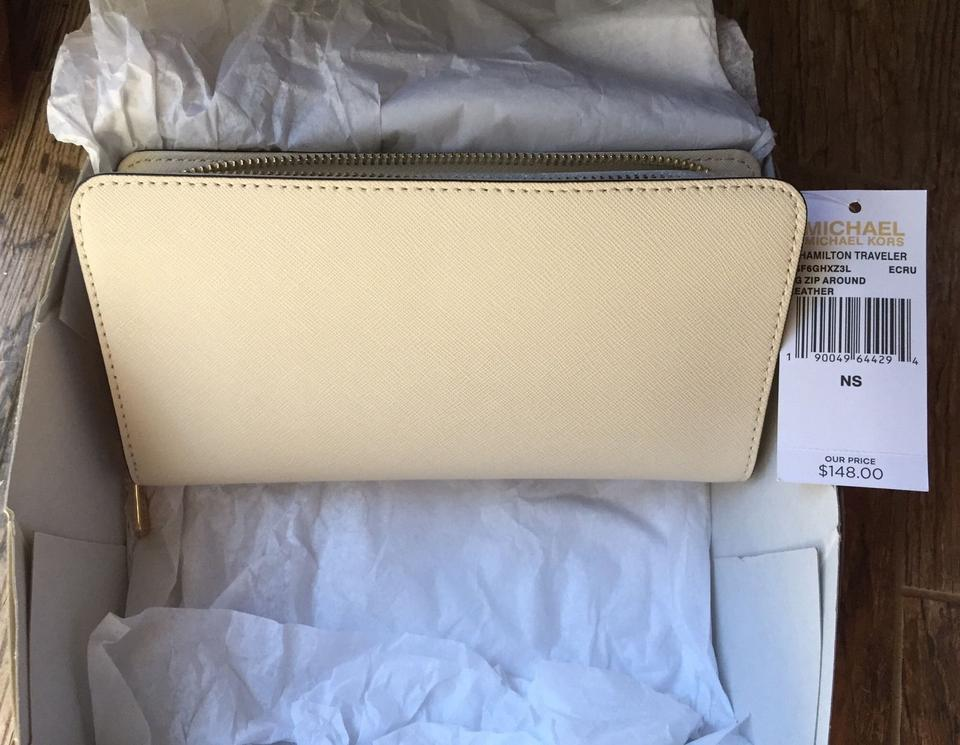 f859703db726 Michael Kors Large Hamilton Zip Around Wallet (New with Tags) Ivory ...