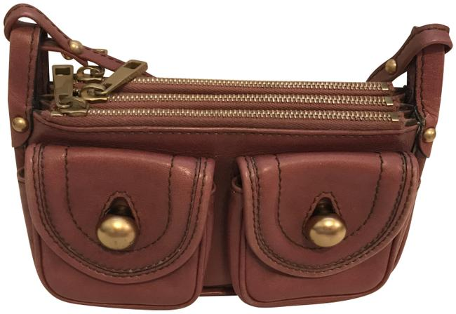 Item - Two Pockets Mauve Leather Cross Body Bag