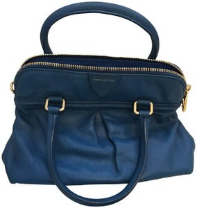 Marc Jacobs Leather Satchel in BLUE