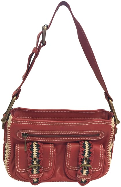 Item - And Crochet Red Leather Satchel