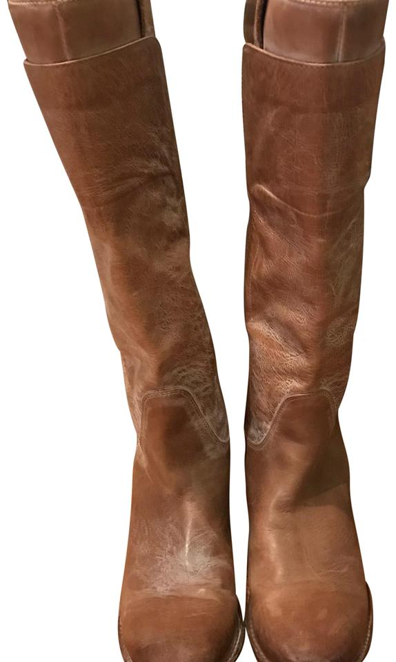 3604307ae952 Frye Tan Leather Paige Tall Riding Antiqued Boots Booties Size US ...