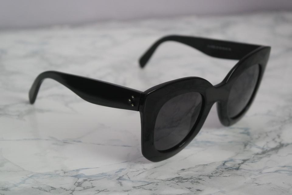 f475729178e4 Céline NEW Celine CL 41093 S Marta Black Oversized Sunglasses Image 9.  12345678910